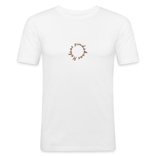 helaas pindakaas - Mannen slim fit T-shirt