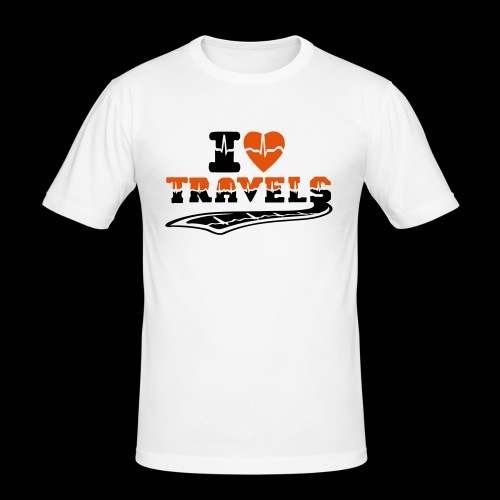 i love travels surprises 2 col - Men's Slim Fit T-Shirt