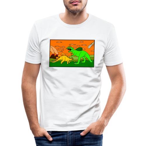 Schneckosaurier von dodocomics - Männer Slim Fit T-Shirt