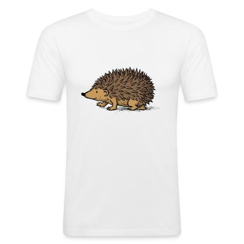 egel illustratie - slim fit T-shirt