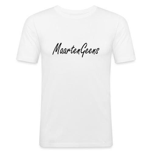 MaartenGeens Zwart - Mannen slim fit T-shirt