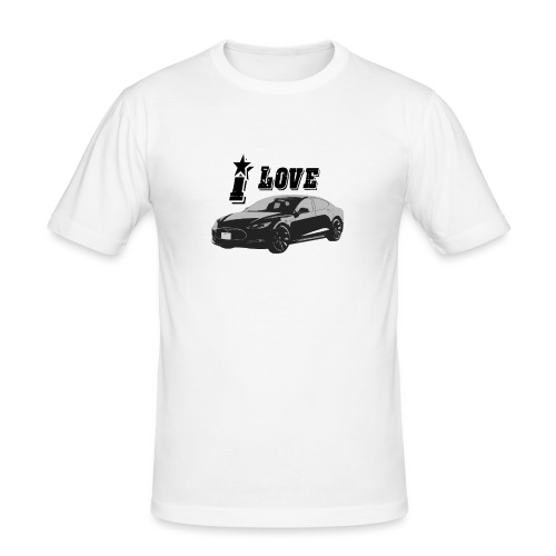 Tesla Model S - Mannen slim fit T-shirt