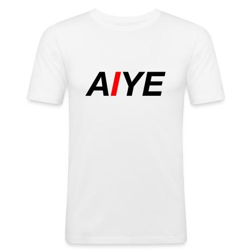 AIYE Basic Logo - Mannen slim fit T-shirt