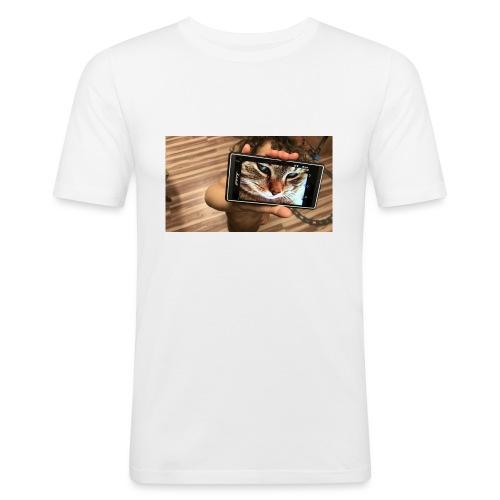 CAT KID - Männer Slim Fit T-Shirt