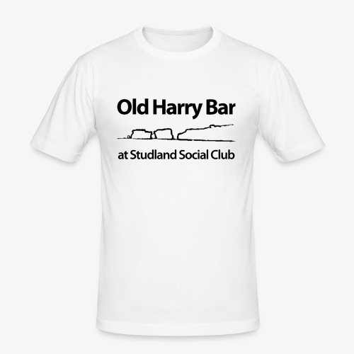 Old Harry Bar logo - black - Men's Slim Fit T-Shirt