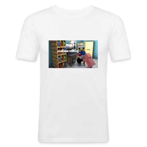 novaskin-minecraft-wallpaper-jpg - Mannen slim fit T-shirt