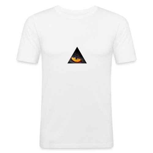 BLACK CAT EYE - Mannen slim fit T-shirt