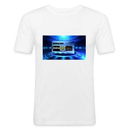 full banner t-shirt - Mannen slim fit T-shirt