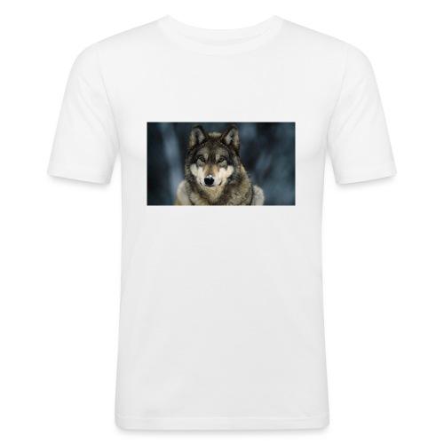 wolf shirt kids - Mannen slim fit T-shirt