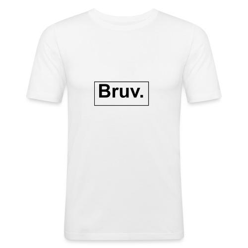 Bruv Baseball T-Shirt Kinder - Mannen slim fit T-shirt