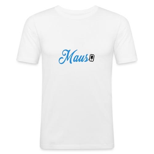 Hoesje MAUS 8Bit Blauw - Mannen slim fit T-shirt