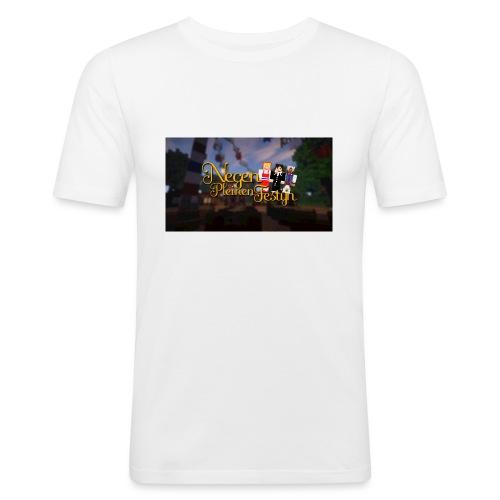 Posterlogo2 - Mannen slim fit T-shirt