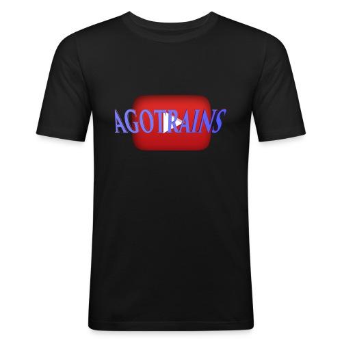 AGOTRAINS - Maglietta aderente da uomo