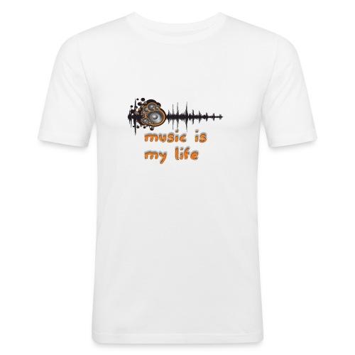Music is my Life - Maglietta aderente da uomo