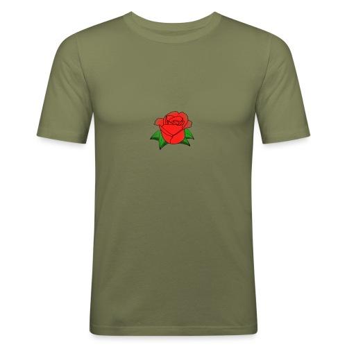 Rosa - Maglietta aderente da uomo