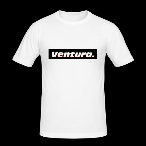 Ventura Black Logo - Mannen slim fit T-shirt