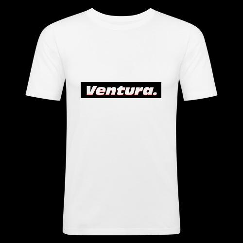 Ventura Black Logo - Mannen slim fit T-shirt