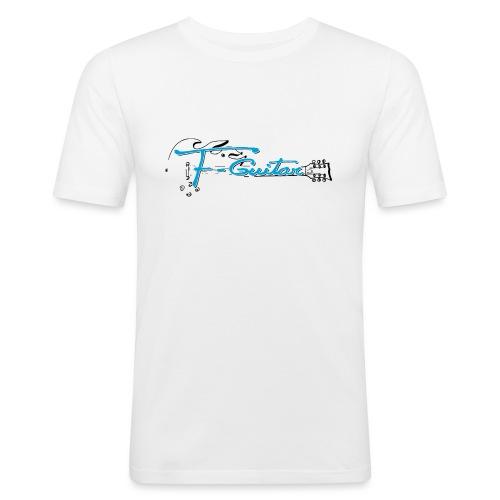 F-Guitar_fond_clair_T-Shirt - T-shirt près du corps Homme