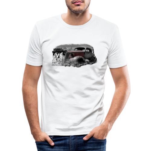 Live a life Oldtimer - Männer Slim Fit T-Shirt