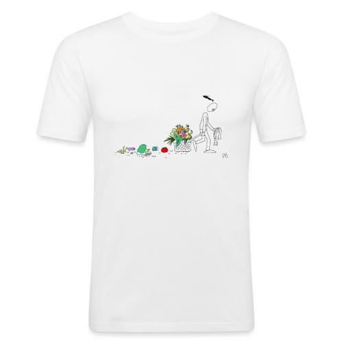 frukt og grønt handleveske - Slim Fit T-skjorte for menn