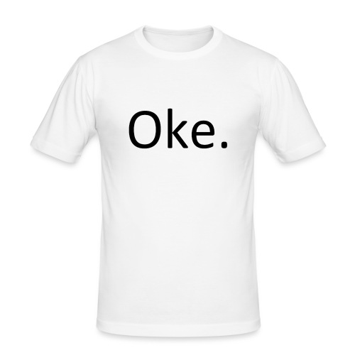 Oke-_T-shirt_PNG-png - Mannen slim fit T-shirt
