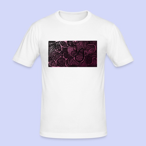 Pink Fade Doodle cover 6/6+ - Herre Slim Fit T-Shirt