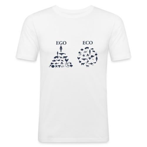 Ego VS Eco - Maglietta aderente da uomo
