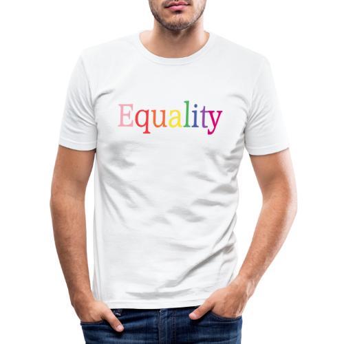 Equality | Regenbogen | LGBT | Proud - Männer Slim Fit T-Shirt