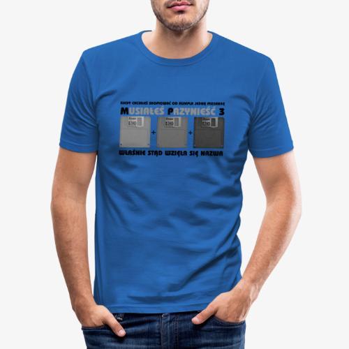 piosenka na dyskietkach - Obcisła koszulka męska