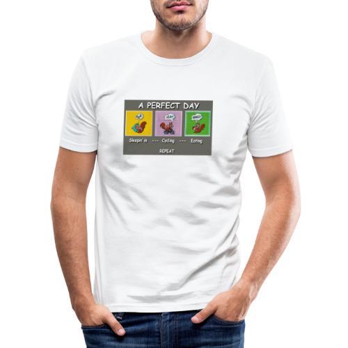 A Perfect Day Halmi - Comic - Männer Slim Fit T-Shirt