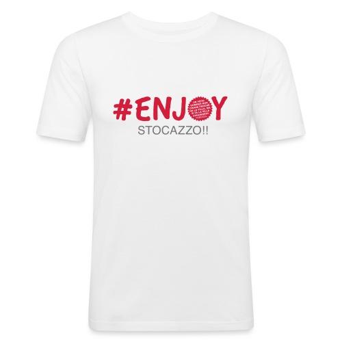 EnjoyStoCazzo 1 - Maglietta aderente da uomo