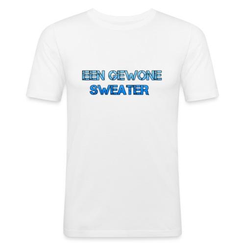 EEN GEWONE SWEATER - Mannen slim fit T-shirt