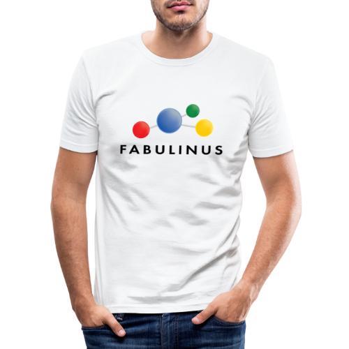 Fabulinus logo dubbelzijdig - Mannen slim fit T-shirt