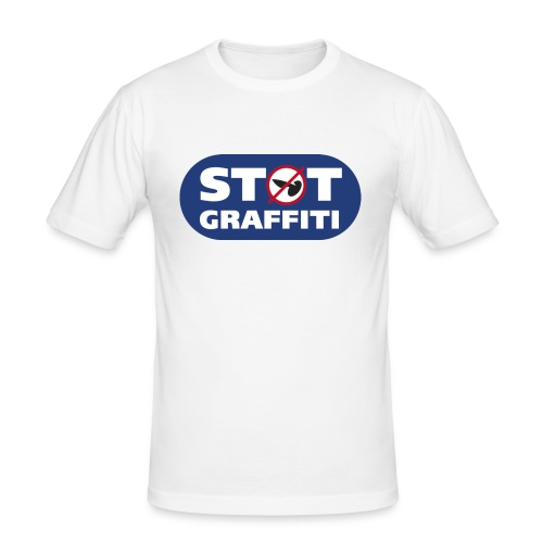 støt graffiti - blk logo - Herre Slim Fit T-Shirt
