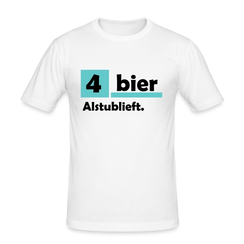 Vier-Bier-Aub - Mannen slim fit T-shirt