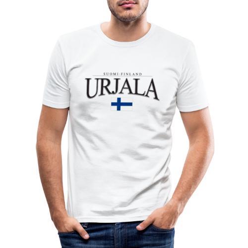 Suomipaita - Urjala Suomi Finland - Miesten tyköistuva t-paita