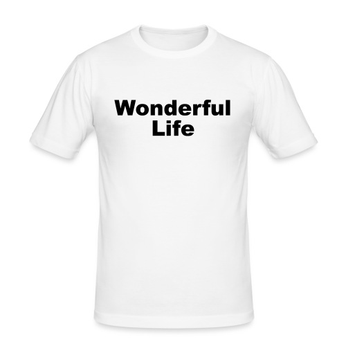 WonderfulLife - Männer Slim Fit T-Shirt