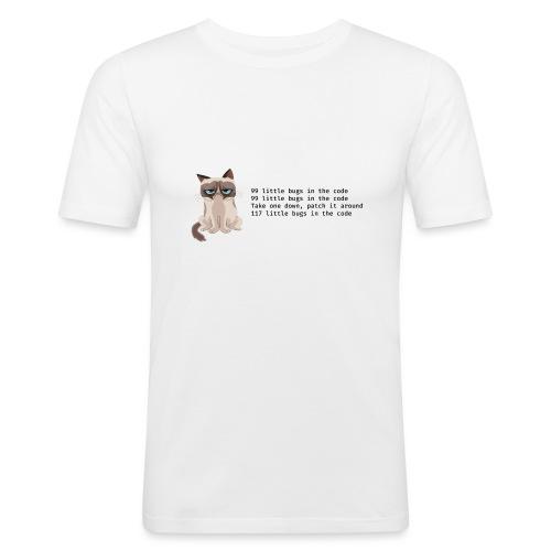 99 litle bugs of code - Mannen slim fit T-shirt