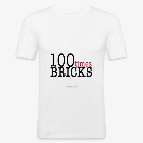 100times BRICKS - Maglietta aderente da uomo