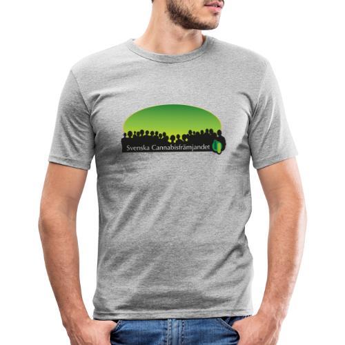 Svenska Cannabisfrämjandet - Slim Fit T-shirt herr