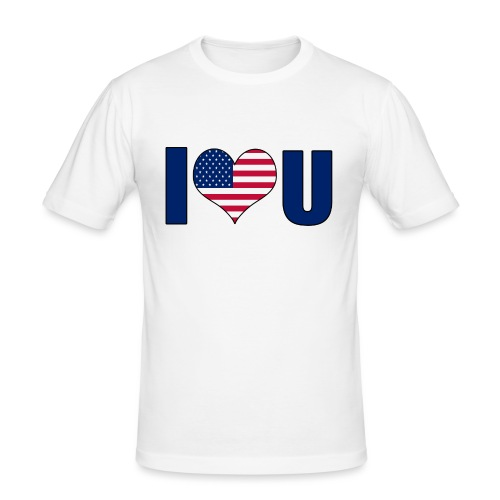 I love u USA - Slim Fit T-skjorte for menn