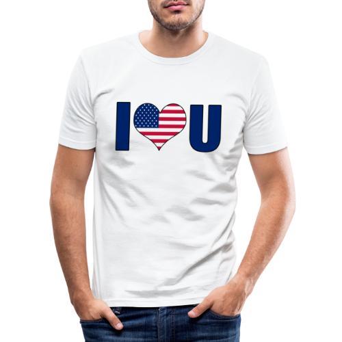 I love u USA - Men's Slim Fit T-Shirt