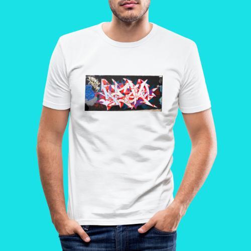 streetart #12 - Mannen slim fit T-shirt