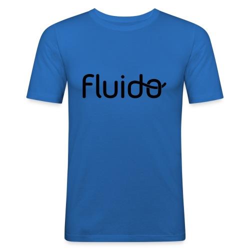 fluidologo_musta - Miesten tyköistuva t-paita