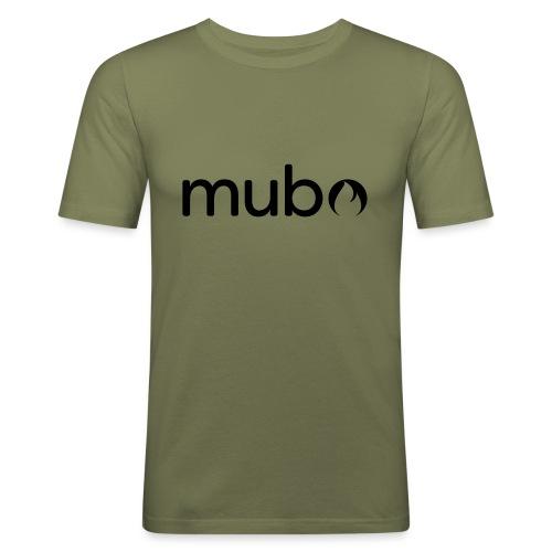 mubo Logo Word Black - Men's Slim Fit T-Shirt