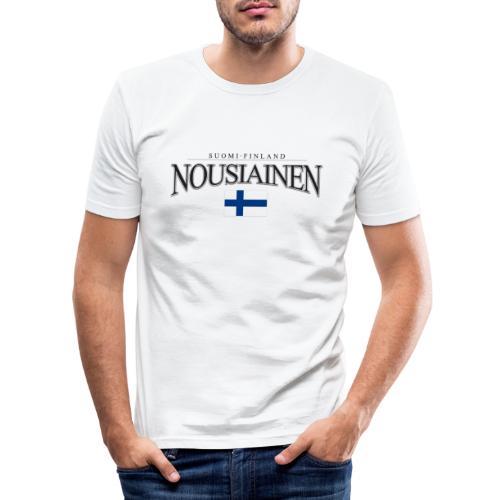 Suomipaita - Nousiainen Suomi Finland - Miesten tyköistuva t-paita