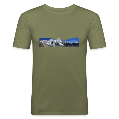 MOUNTAINS - Maglietta aderente da uomo