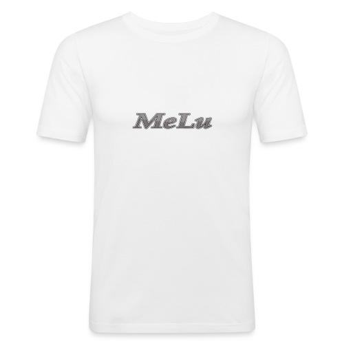 MeLu_Text - Mannen slim fit T-shirt