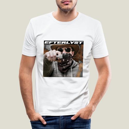 efterlyst bajs i bilen - Slim Fit T-shirt herr