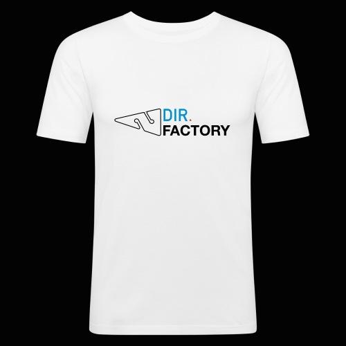 Logo mit Arrow DESIGN - Männer Slim Fit T-Shirt